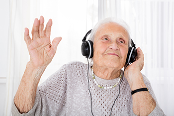 RockDoc - Grandma with headphone